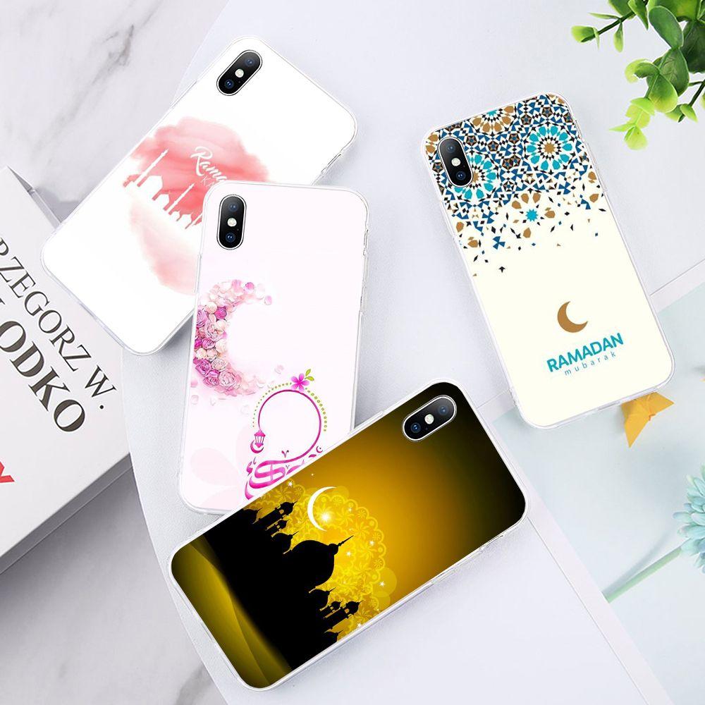 Muslim Ramadan series Soft Phone Case for IPhone 5S SE 6 7 8 PLUS X Xr 11 Iphone 12 Pro Max Case Cover