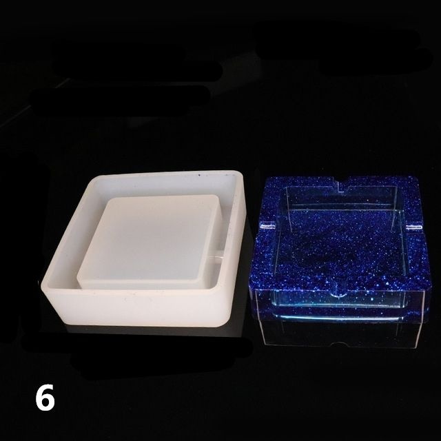 1pc Ashtray Craft Diy Transparent Uv Resin Epoxy Silicone Combination Molds For Diy Making Finding Accessories Jewelry Fordeal